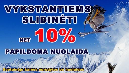 Vykstantiems slidinėti